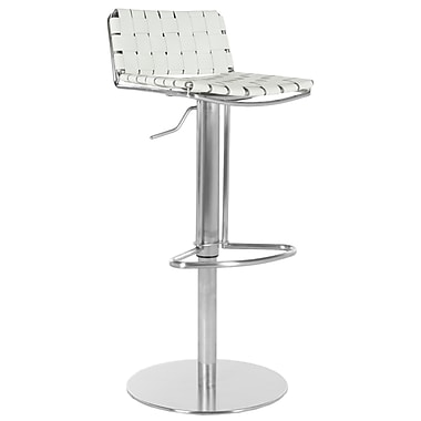 Safavieh Frank 22.8'' Adjustable Bar Stool ; White