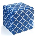 Fab Rugs World Tangier Ottoman; Regatta Blue