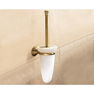 Gedy by Nameeks Romance Wall MountedToilet Brush and Holder; Bronze