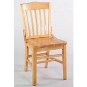 Alston Schoolhouse Side Chair; Mahogany