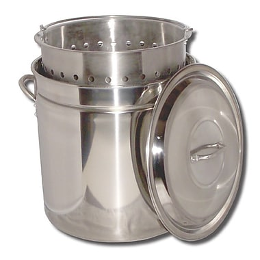 King Kooker Boiling Steamer Pot and Punched Basket; 24 Quart