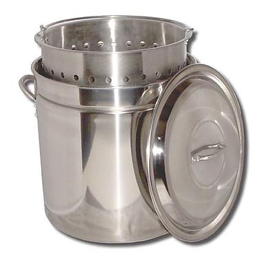 King Kooker Boiling Steamer Pot and Punched Basket; 82 Quart