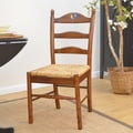 Carolina Cottage Maggie Rooster Ladder Back Chair; Chestnut