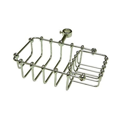 Elements of Design Vintage Shower Caddy; Polished Chrome