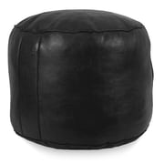 Ikram Design Tabouret Fez Pouf Ottoman; Black