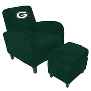 Imperial NFL Den Armchair and Ottoman; Green Bay Packers
