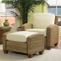 Home Styles Cabana Banana Cotton Armchair and Ottoman; Honey