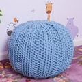 Home Loft Concept Olivia Pouf Ottoman; Blue