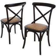 Home Loft Concept Lloyd Wicker Chairs (Set of 2) (Set of 2); Black