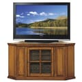 Riley Holliday 46'' Corner Plasma TV Stand in Burnished Oak