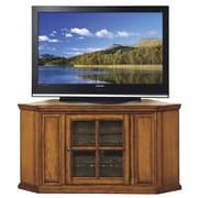 Riley Holliday 46'' Corner Plasma TV Stand in Burnished Oak; Burnished Oak