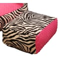 Ozark Mountain Kids Hot Pink Zebra Ottoman