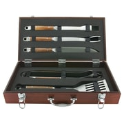Mr. Bar-B-Q Rosewood Handle Forged Tool Set (Set of 5)