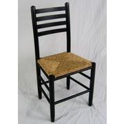 Dixie Seating Carolina Ladderback Chair; Black