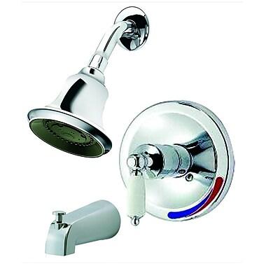 Aqueous Faucet Teabury Pressure Balance Tub and Shower Trim Lever Handle; Brushed Nickel