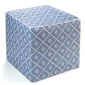 Fab Rugs World Veria Polypropylene Cube Ottoman