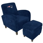 Imperial NFL Den Armchair and Ottoman; New England Patriots