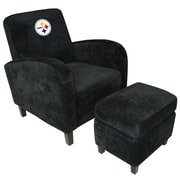 Imperial NFL Den Armchair and Ottoman; Pittsburgh Steelers