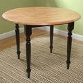 TMS Dining Table; Black and Natural