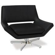 dCOR design Yield Arm Chair; Black
