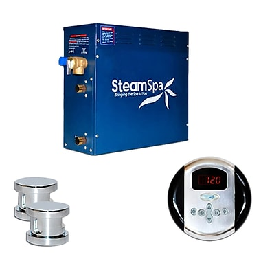 Steam Spa SteamSpa Oasis 12 KW QuickStart Steam Bath Generator Package; Chrome