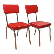 TMS Retro Side Chair (Set of 2); Red