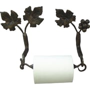 Quiescence Vineyard Wall Mounted Toilet Paper Holder; Silver Shimmer