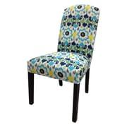 Sole Designs Flora Cotton Parson Chair (Set of 2); Blue