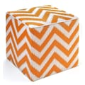 Fab Rugs World Laguna Ottoman; Orange Peel