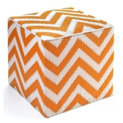 Fab Rugs World Laguna Pouf Ottoman; Orange Peel