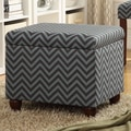 Kinfine Storage Ottoman; Gray / Glacier Blue