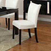 Hokku Designs Lax Contemporary Side Chair (Set of 2); White