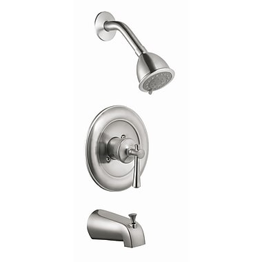 Design House Ironwood Single Handle Tub and Shower Faucet Trim; Satin Nickel