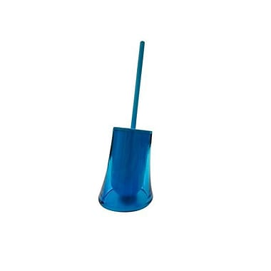 Gedy by Nameeks Flou Free Standing Toilet Brush and Holder; Transparent Turquoise