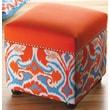 Sandy Wilson Ikat Storage Cube Ottoman