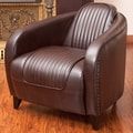 Home Loft Concept Manado Channeled Leather Club Chair