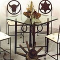 Grace Horseshoe Dining Table; Antique Bronze