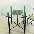 Grace Art / Medallion Dining Table; Jade Teal