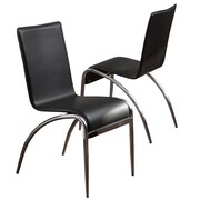 Home Loft Concept Odrick Modern Chairs (Set of 2); Black