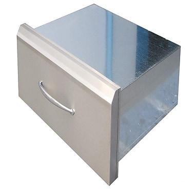 Sunstone Grills Premium Drawer w/ Pocket Shelf; 18'' H x 30'' W