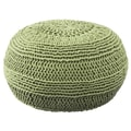 Rizzy Home ColorCable Knit Ottoman; Lime