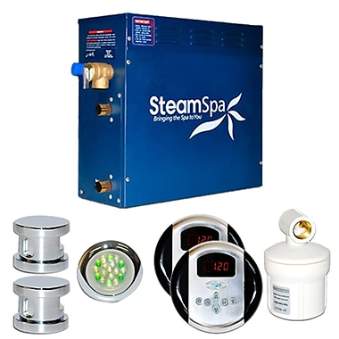 Steam Spa SteamSpa Royal 12 KW QuickStart Steam Bath Generator Package; Chrome