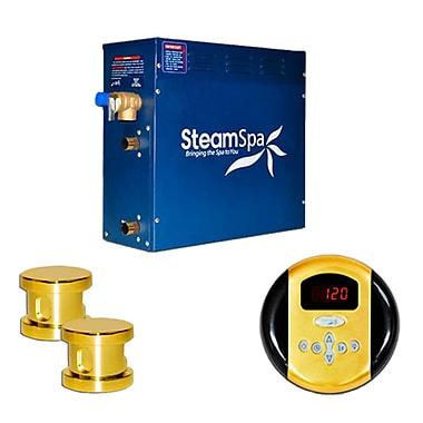 Steam Spa SteamSpa Oasis 12 KW QuickStart Steam Bath Generator Package; Gold