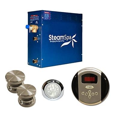 Steam Spa SteamSpa Indulgence 12 KW QuickStart Steam Bath Generator Package; Brushed Nickel