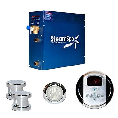Steam Spa SteamSpa Indulgence 12 KW QuickStart Steam Bath Generator Package; Chrome