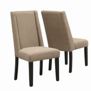 Monarch Specialties Inc. Parsons Chair III (Set of 2); Taupe