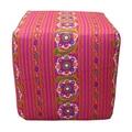 Divine Designs Paradise Cube Ottoman; Pink