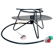 King Kooker Heavy Duty Jet Burner Outdoor Cooker Package w/ Baffle and Rond Bar Legs