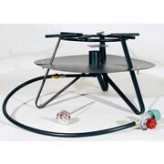 King Kooker Heavy Duty Jet Burner Outdoor Cooker Package w/ Baffle and Flat Bar Legs