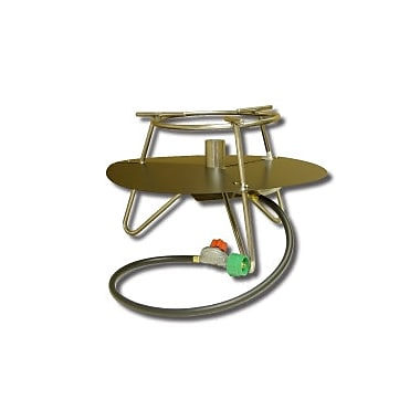 King Kooker Jet Burner Outdoor Cooker Package w/ Baffle and Round Bar Legs